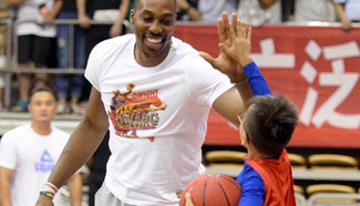 Dwight Howard of NBA attends promotion event in China's Nanchang