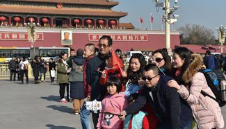Large number of visitors seen in Beijing during Chinese Lunar New Year