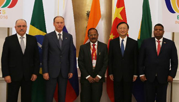 China, India vow to advance cooperation among BRICS nations