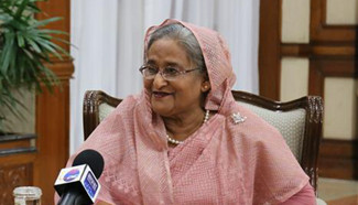 Bangladeshi PM receives interview with Xinhua on Xi's visit