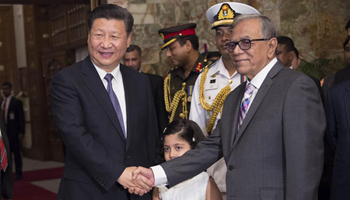 Chinese president welcomes opportunities for China-Bangladesh ties