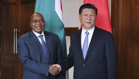 China, S. Africa vow stronger ties ahead of summit