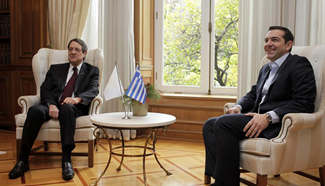 Greek PM, Cypriot president agree on joint actions on Cyprus issue