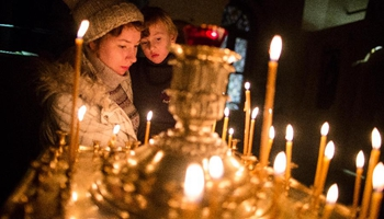 Orthodox Christians celebrate Christmas Day in Moscow, Russia