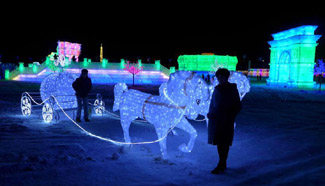 Ice and Snow Lantern Fair held in N China