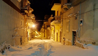 Cold current in Europe turns cities into snowy fairyland
