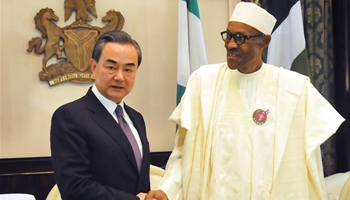 Nigerian president welcomes Chinese enterprises to take part in its economic construction