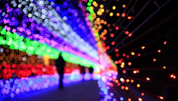 SW China's village conducts light show to mark upcoming Lunar New Year