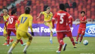 Ukraine sweep Myanmar 4-0 in CFA Women's Football Tournament