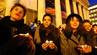 """People take part in """"Lights for Rights"""" rally in Brussels"""