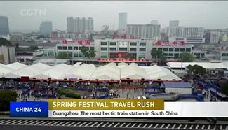 Guangzhou holds the most hectic train station in south China
