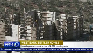 Israel approves 2,500 housing units in the West Bank
