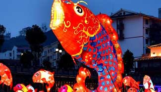 Lanterns set to greet Spring Festival in central China