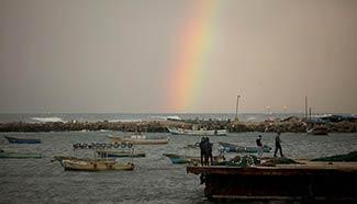 In pics: Rainstorm near Gaza City