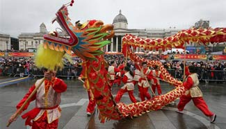 Chinese Lunar New Year celebrated in London