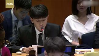 Chinese teen star Wang Yuan's UN speech a hit