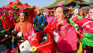 Temple fair celebrating Chinese Lunar New Year held in Hohhot