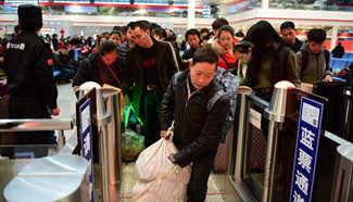 China railways brace for post-holiday travel rush