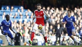 Chelsea wins Arsenal 3-1 during English Premier League match