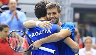 Croatia wins Spain at Davis Cup World Group first round match