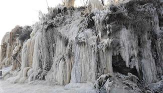 Man-made ice fall seen in north China's Taiyuan