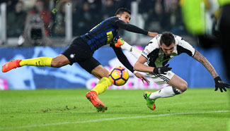 Juventus beats Inter Milan 1-0 in Serie A soccer match