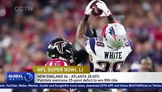 Patriots win fifth Super Bowl title after historic comeback