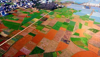 Aerial photos of rural scenery in SW China's Yunnan