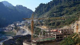 Nam Tha 1 Hydropower Station under construction in Laos