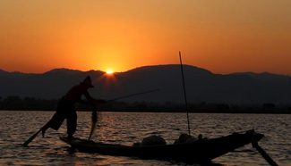 Tourists visit Inle Lake in Myanmar
