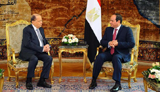 Egypt's Sisi receives his Lebanese counterpart in Cairo