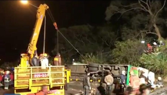 Tour bus crashes in Taiwan, at least 32 people killed