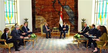 Egyptian president meets with visiting UN chief in Cairo