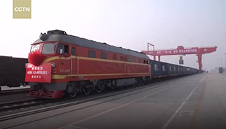 Freight train transports Chinese-designed mining excavators to Russia