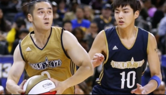 Chinese celebrities play in NBA All-Star Weekend game