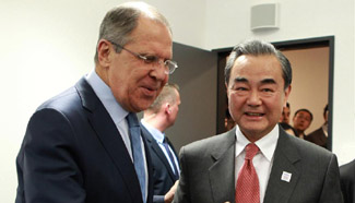 Chinese, Russian FMs meet in Germany