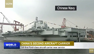 China's new homemade aircraft carrier in operation this year