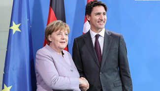 German Chancellor meets with visiting Canadian PM in Berlin