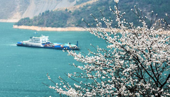 Early-spring scenery of Yangtze River