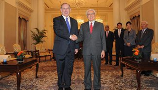 Singapore president, PM meets with visiting Israeli PM