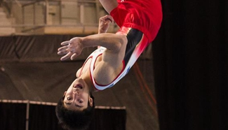 Kenzo Shirai wins gold medal of Men's floor exercise final in Melbourne