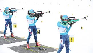 Highlights of biathlon at Asian Winter Games