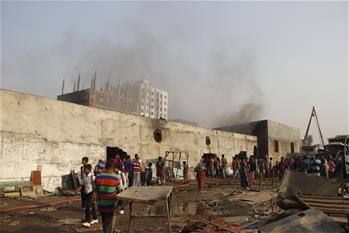 Fire breaks out at shoe factory in Dhaka, Bangladesh