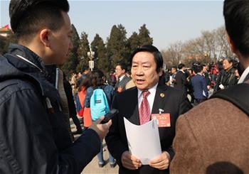 CPPCC member Pan Qinglin receives interview in Beijing