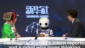 "Xinhua's interactive ""robot reporter"" makes debut"