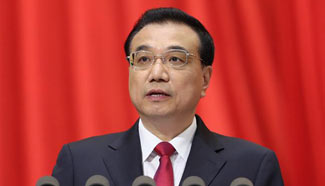 Premier Li Keqiang delivers gov't work report