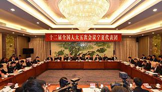 Plenary meeting of 12th NPC deputies from Ningxia opens to media