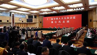 Plenary meeting of 12th NPC deputies from Zhejiang opens to media