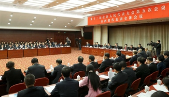 Plenary meeting of 12th NPC deputies from Shanxi opens to media