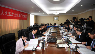 Plenary meeting of 12th NPC deputies from Macao SAR opens to media